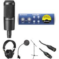 Audio-Technica AT2035 Mic, PreSonus TubePre v2 and Closed-Back Headphones Kit