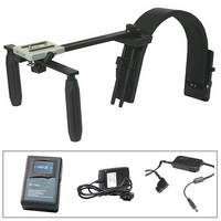 Switronix Shoulder Support for C300 W/V-Mount Lithium Battery/Charger/Cable Kit