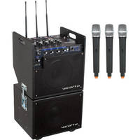 VocoPro MOBILEMAN 2 Battery-Powered P.A. System with Subwoofer