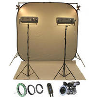 Reflecmedia RM 7221DS 7.0 x 7.0' Chromaflex All In One Bundle with Small Dual LiteRing