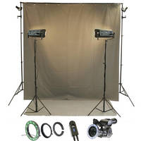 Reflecmedia RM 7225DS 8.0 x 8.0' Deskshoot All In One Bundle with Small Dual LiteRing