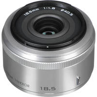 Nikon 1 Nikkor 18.5mm f/1.8 Lens for CX Format (Silver)