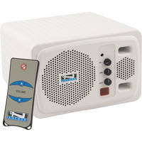 Anchor Audio AN-130U1RC+ Speaker Monitor with Wireless Receiver and Remote Control (White)