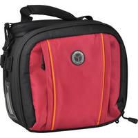 M-Rock 5020 Cascade Double Access Notebook & Camera Bag (Black and Burgundy)