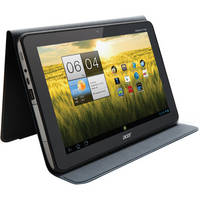 """Acer Iconia 10"""" Tablet Foldable Protective Portfolio Case (Light Gray)"""