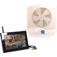 KJB Security Products C1560 Zone Shield Wireless Air Purifier with QUAD LCD Receiver