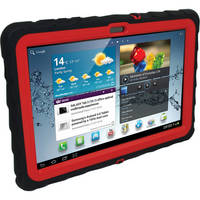 Gum Drop Cases Drop Tech Protective Case for the Samsung Galaxy Tab 2 10.1 (Black/Red)