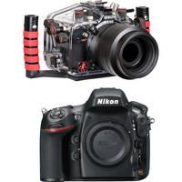 Ikelite 6812.8 Underwater Housing Kit with Nikon D800 Digital SLR Camera Body