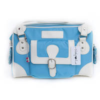 Cheeky Lime Classic Shoulder Bag (Teal, Cream Trim)