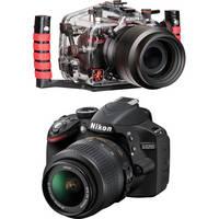 Ikelite 6801.32 Underwater Housing Kit with Nikon D3200 Camera and AF-S DX NIKKOR 18-55mm 1:3.5-5.6G VR Lens