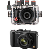 Ikelite Underwater Housing with Panasonic Lumix DMC-LX7 Digital Camera Kit (Black)