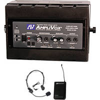 AmpliVox Sound Systems Mity Box Amplified Speaker with Wireless Microphone