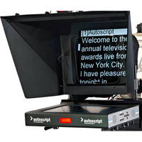"Autoscript 17"" High-Bright LED Teleprompter with Folding Hood"