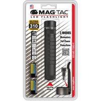 Maglite Mag-Tac LED Flashlight (Plain Bezel, Matte Black)