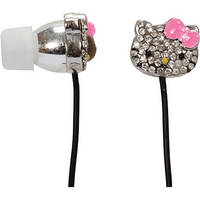 Sakar Hello Kitty HK Bling Metal Earbuds With Mic