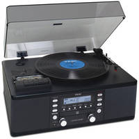Teac LP-R550USB-B Turntable with CD Recorder/Cassette/AM/FM Tuner (Black)