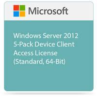 Microsoft Windows Server 2012 5-Pack Device Client Access License (Standard, 64-Bit)