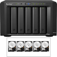 Synology 10TB (5 x 2TB) DS1513+ 5-Bay NAS Server Kit with Drives