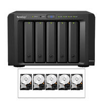 Synology 15TB (5 x 3TB) DS1513+ 5-Bay NAS Server Kit with Drives