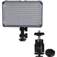 GiSTEQ Flashmate F-198C LED Video Light / Ball Head / Shoe Adapter Kit