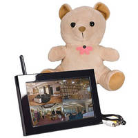 KJB Security Products SC7012 Xtreme Life Wireless Teddy Bear Covert Indoor Color Camera with QUAD LCD Receiver (NTSC)
