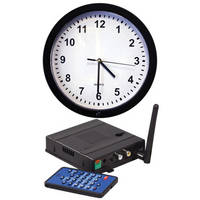KJB Security Products SC7027 Xtreme Life Wireless Wall Clock Indoor Covert Color Camera with QUAD Receiver (NTSC)
