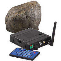 KJB Security Products SC7020 Xtreme Life Wireless Landscape Stone Covert Indoor / Outdoor Color Camera with QUAD Receiver (NTSC)