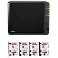 Synology 8TB (4x2TB) DiskStation DS412+ 4-Bay All-in-1 NAS Server (B&H Kit)