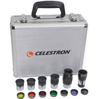 Celestron Eyepiece and Filter Kit with 14 Piece Telescope Accessory Set