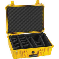 Pelican 1524 Waterproof 1520 Case with Padded Dividers (Yellow)