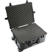 Pelican 1610 Watertight Hard Case with Cubed Foam & Wheels (Black)