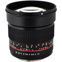Rokinon 85M-C 85 mm f/1.4 Telephoto Lens for Canon (Black)