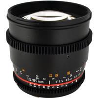 Rokinon 85mm t/1.5 Aspherical Cine Lens for Canon Deals