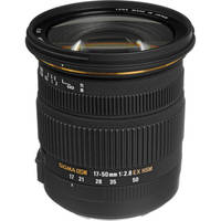 Sigma 17-50mm f/2.8 Auto Focus Wide Angle Zoom Lens for Canon DSLR Camera (Black)