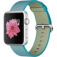 Apple Watch Sport 42mm Smartwatch with Silver Aluminum Case and Scuba Blue Woven Nylon Band