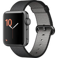 Apple Watch Series 2 38mm Smartwatch with Space Gray Aluminum Case + Tempered Glass Protector