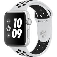 Apple Watch Nike+ Series 3 42mm Smartwatch GPS Only (Silver Aluminum Case, Pure Platinum/Black Nike Sport Band Band) + Screen Protector