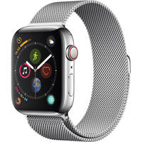 Apple Watch Series 4 44mm GPS & Cellular Smartwatch with Silver Milanese Loop (Stainless Steel Case)
