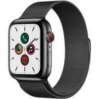 Apple Watch Series 5 44MM GPS + Cell Stainless Black with Milanese Band