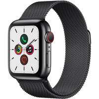Apple Watch 5 GPS + Cellular 40mm Stainless Steel Case Smartwatch (Black)
