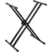 Auray KSC-2X Deluxe Double-X Keyboard Stand with Clutch Locking Mechanism