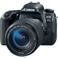 Canon EOS 77D 24.2MP Full HD 1080p Wi-Fi Digital SLR Camera with 18-135mm Lens (Black)