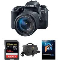 Canon EOS 77D DSLR Camera w/18-135mm USM Lens & Accessory Deals