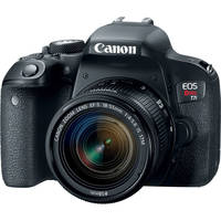 Canon EOS Rebel T7i 24.2MP Full HD 1080p Wi-Fi Digital SLR Camera with 18-55mm Lens (Black) - Refurbished