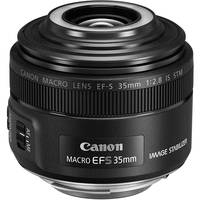 Canon EF-S 35mm f/2.8 Macro IS STM Lens + Filter + Cleaning Kit + Lens Cap + Lens Pouch