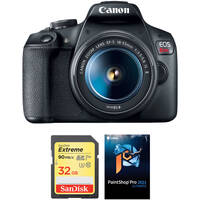 Deals on Canon EOS Rebel T7 DSLR Camera w/18-55mm Lens & Accessory Kit
