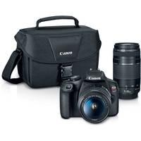 Canon EOS Rebel T7 24.1MP Full HD 1080p Digital SLR Camera with 18-55 & 75-300mm Lens + $150 Kohls Cash