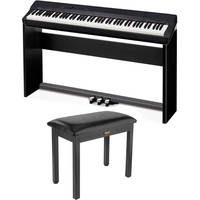 Casio PX-160 88-Key Digital Piano + Privia Accessory Pack + Wood Style Piano Bench