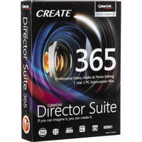 Cyberlink Director Suite 365 Professional Video Audio & Photo Editing
