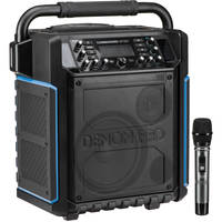 Denon Commander Sport Portable Water Resistant 120W All-In-One PA System with Wireless Handheld Microphone